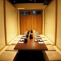 落ち着いた雰囲気の個室◆接待や大切な記念日などに