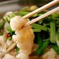 料理メニュー写真もつ鍋(塩・醤油)