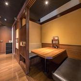 ベーシックな4名様タイプのソファー個室席、気心の知れた仲間たちと、また、大切な方とのプライベートな空間作りにご活用ください♪
