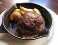 料理メニュー写真国産牛100%ジューシーハンバーグ