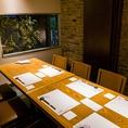 1F:2~8名様まで対応のテーブル席個室