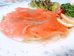料理メニュー写真マリネ風スモークサーモン