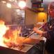 熟練の技光る炭火焼