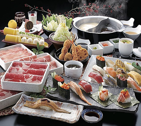 《食べ放題》牛しゃぶしゃぶ/上寿司食べ放題◆3480円(税抜)