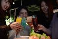 女子会にもぴったりなお酒を多数ご用意!カクテルやノンアルコールカクテルを100種類以上!その他、ビール・ウィスキー・カクテル・焼酎・樽生 スパークリングワイン・シャンパン等、バラエティ豊かなドリンクをリーズナブルに味わえます。【北新地・梅田・バー・バル】