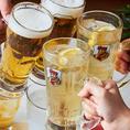 【アルコール100分飲み放題】アサヒスーパードライ生ビール/フレーバービア/ハイボール/サワー/カクテル/焼酎/日本酒/ワイン/ノンアルコールドリンク/ソフトドリンクなど約50種が100分飲み放題◎しゃぶしゃぶと一緒にお楽しみください。アルコール飲み放題100分1480円※ドリンクバーも含まれます。