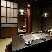 6名様用の個室は家族連れに人気のお席です