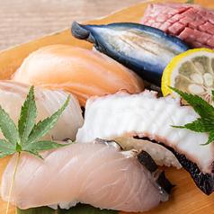 【地産地消】鮮魚、肉、野菜の握り6種盛り合わせ