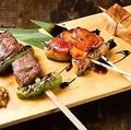 料理メニュー写真特選串焼き3種盛合せ