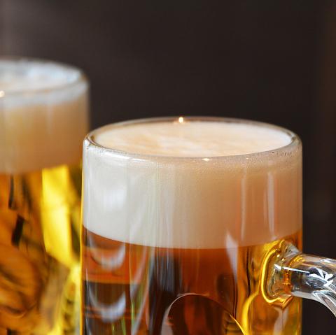 【10月限定】生ビールもOK♪2時間飲み放題1,980円(税込)