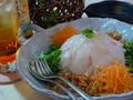 料理メニュー写真野菜たっぷり鯛のお造り海鮮風