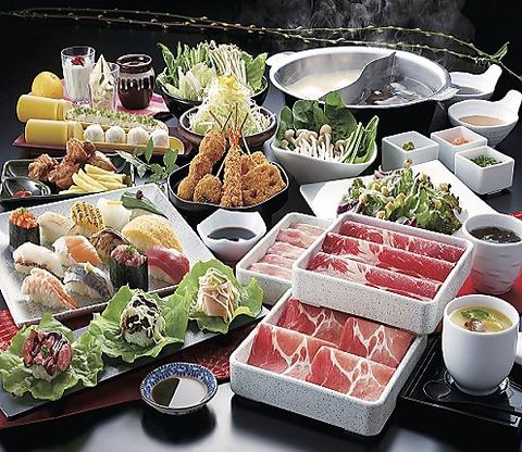 《食べ放題》牛しゃぶしゃぶ/寿司食べ放題◆2980円(税抜)