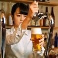 美味しいビールを飲んで頂きたいから!東風では、注ぎ方は勿論、毎日のグラス洗浄にも余念がありません。