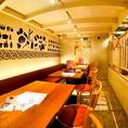 長テーブルのお席は宴会や飲み会にぴったり!お洒落だけどカジュアルなので使いやすく様々なシーンで大活躍!タパスは350円~、飲み放題付きコースは3500円~ととってもリーズナブルなのもうれしいポイント☆チーズフォンデュなど、盛り上がる料理も盛りだくさん!(名駅/チーズ/韓国/パネチキン/タピオカ)