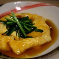 竹鶏卵のあんかけニラ玉