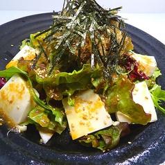 料理メニュー写真ヘルシー☆お豆腐と海苔の和風サラダ