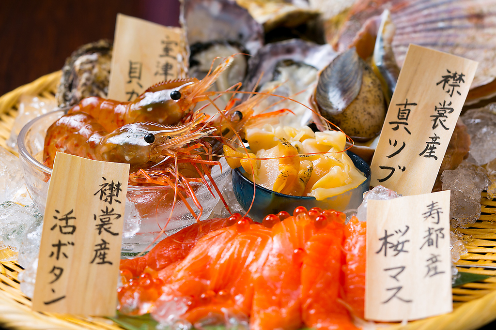 道内各地の漁港から届く新鮮魚介!今月はブリ、イナダ、アジなど毎日仕入れる鮮魚がオススメ!