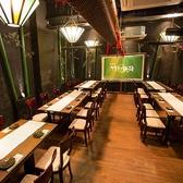 【宴の間】25~40名様までOKな完全個室◎大人数のご宴会ならこちらのお席で対応可能です♪プロジェクター利用可能なテーブル個室