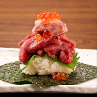 津田沼で肉寿司♪NIKURA 1貫:600円(税込)