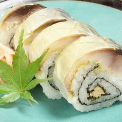 料理メニュー写真自家製サバ寿司 2貫
