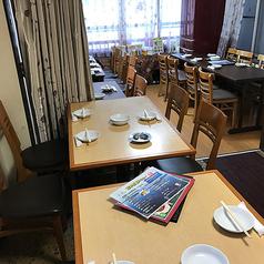 2Fテーブル席24名様まで★2Fにもテーブル席あり♪少人数から24名様までご利用いただけます!シーンに合わせてレイアウトも変更可能です◎明るく活気のある店内で本格四川料理をお楽しみください♪