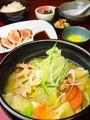 料理メニュー写真団子汁定食