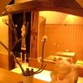 趣きあるテーブル席。~新宿 個室居酒屋 新宿宮川 野村ビル店~☆新宿 個室 居酒屋 宴会 接待