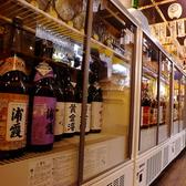 【工事中のため系列お写真】酒蔵ごとにレイアウトされている地酒は50種類以上!他、地ワインや焼酎も!自慢の料理に合うお酒をご用意!!