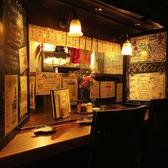 カウンターも、仕切りを使って個室に!!雰囲気も良いので人気です!