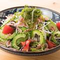料理メニュー写真桜海老とゴーヤのサラダ(中華ドレッシング)