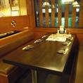 6人がけのテーブル席