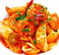 料理メニュー写真海老と完熟トマトのアラビアータ