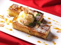 鉄板仕上げのフレンチトースト。パンナガタの食パン使用