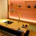 落ち着いた雰囲気の個室は、掘りごたつタイプなのでゆったりとお食事をお楽しみいただけます。