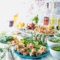 各種宴会に◎コース料理は飲み放題付き5000円~♪女子会コースは4000円~♪
