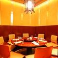 中華料理店ならではの掘りごたつの円卓席です。