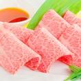 10秒焼きしゃぶ 『 ザブトン 』一切れ 320円(税別)薄切りのお肉をさっと焼きしゃぶ。おろしポン酢で!