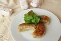 料理メニュー写真パクチー餃子(4個入り)