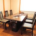 テーブル 10名様席の個室にもできます。