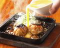 料理メニュー写真つくね鉄板卵とじ(2個)
