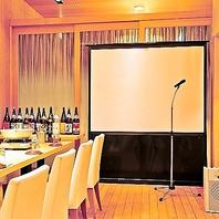 マイク・DVD・大型テレビ完備の個室