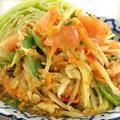 料理メニュー写真青パパイヤのサラダ(ソムタム)