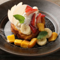 料理メニュー写真厚切りブリオッシュフレンチトースト