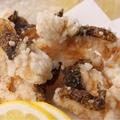料理メニュー写真ウツボの唐揚げ/とり揚げ/国産若鶏のせんざんき