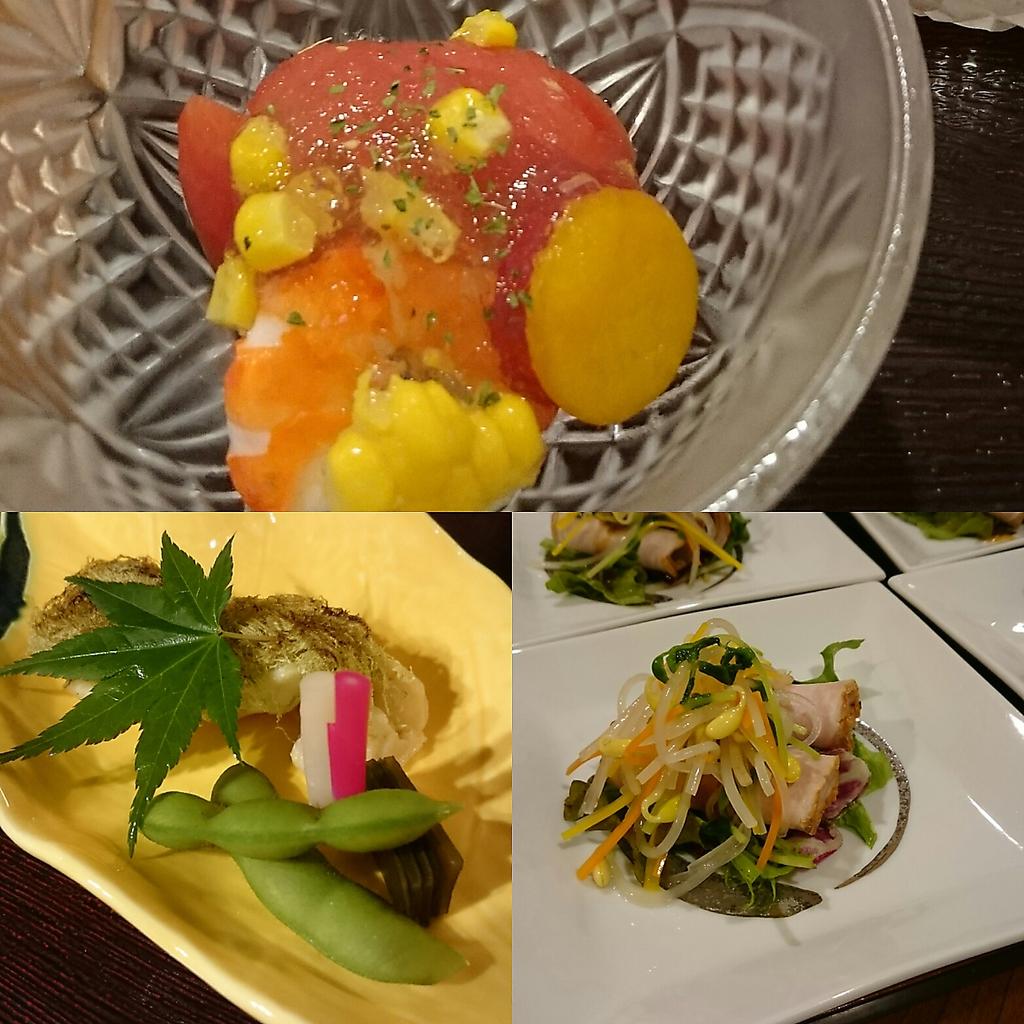 季節ごとに旬の味をお届け。旬のお造りに合う日本酒と一緒に味わい下さい。
