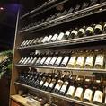 ワインも多数ご用意!お酒に拘ったご宴会も可能です!お食事に合わせたお酒をお楽しみ下さい!