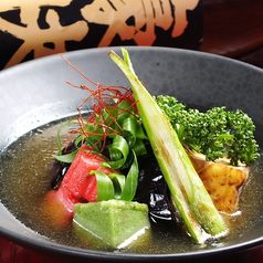 京生麩と豆腐の揚げ出汁