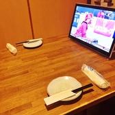 個室でTV付!掘り炬燵もございます。足を伸ばしてゆったりと・・・