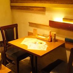 1~2名様。カップルやご夫婦、お友達とのお食事に♪人数に合わせてお席ご用意いたします!