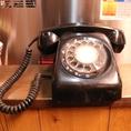 残念ながら、この黒電話はオブジェです♪